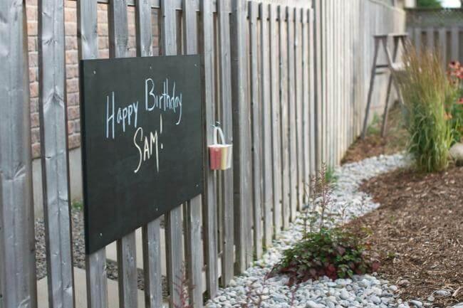 Outdoor Hanging Chalkboard Message Center
