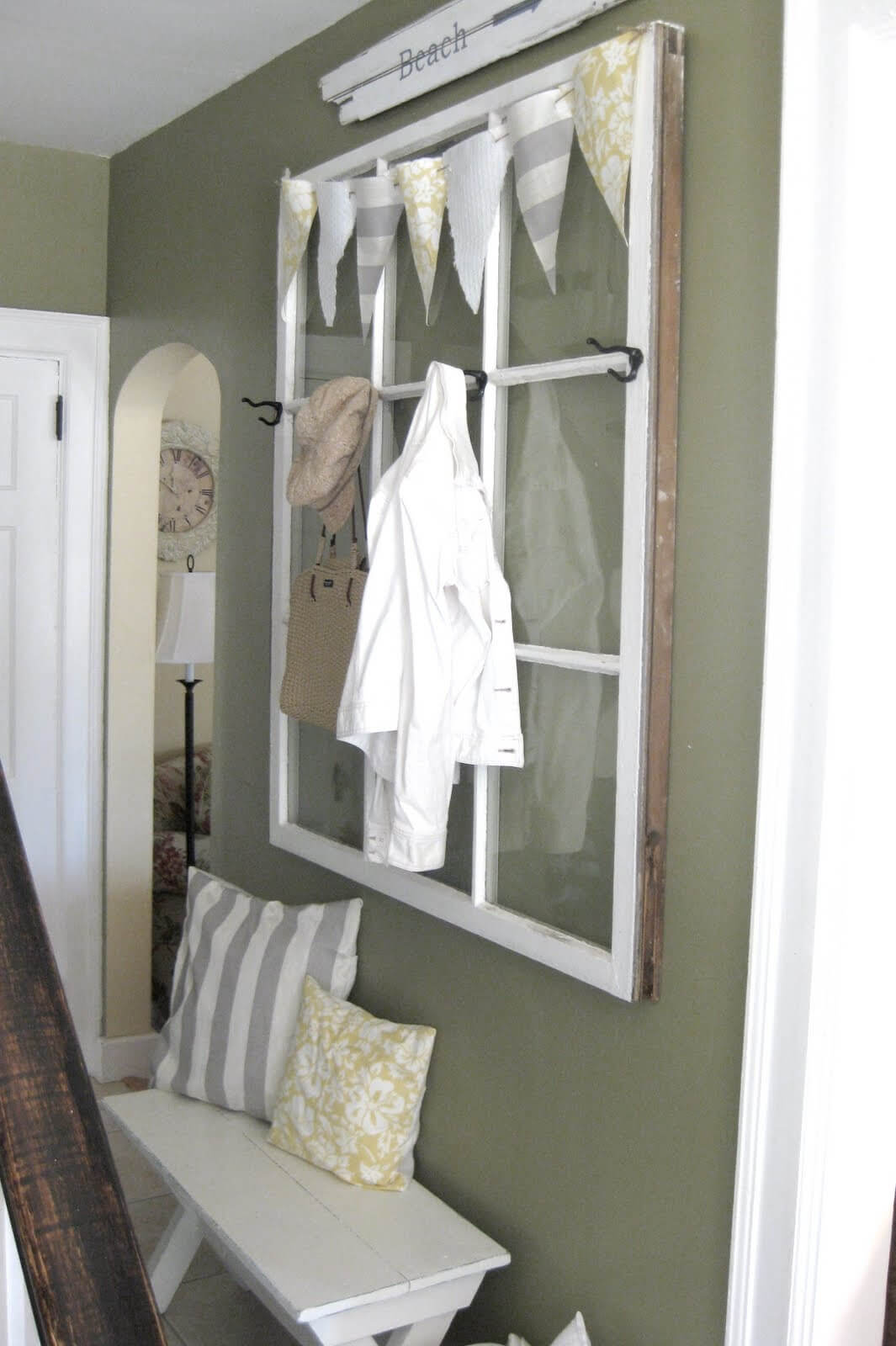 Functional Hallway Hanging Window Storage