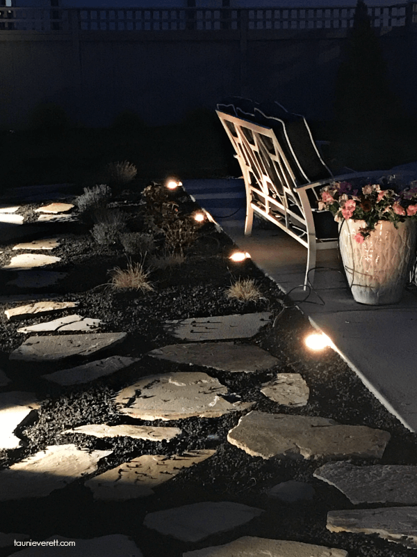 DIY Landscaping Lights for Sidewalks and Pathways