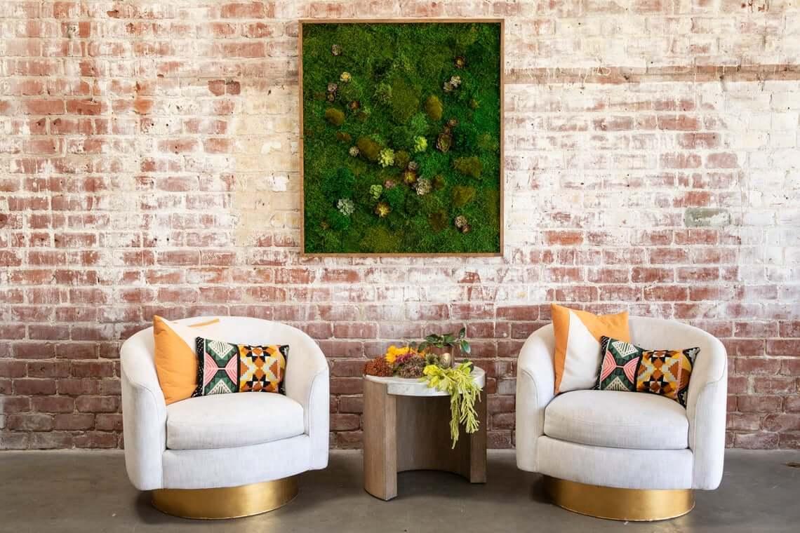 Lush Framed Moss Wall Design