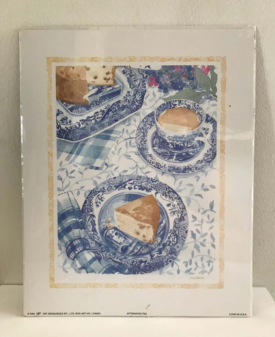 Vintage British Tea Time Watercolor Print