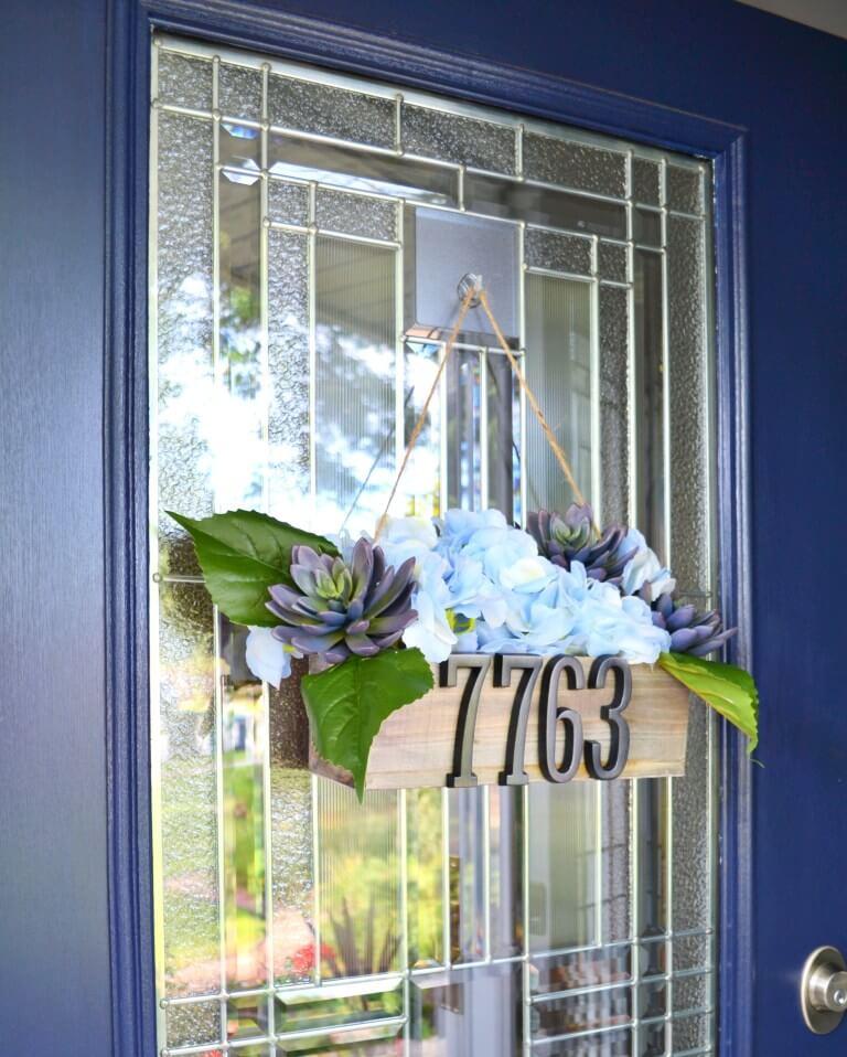 DIY Hanging Address Door Planter