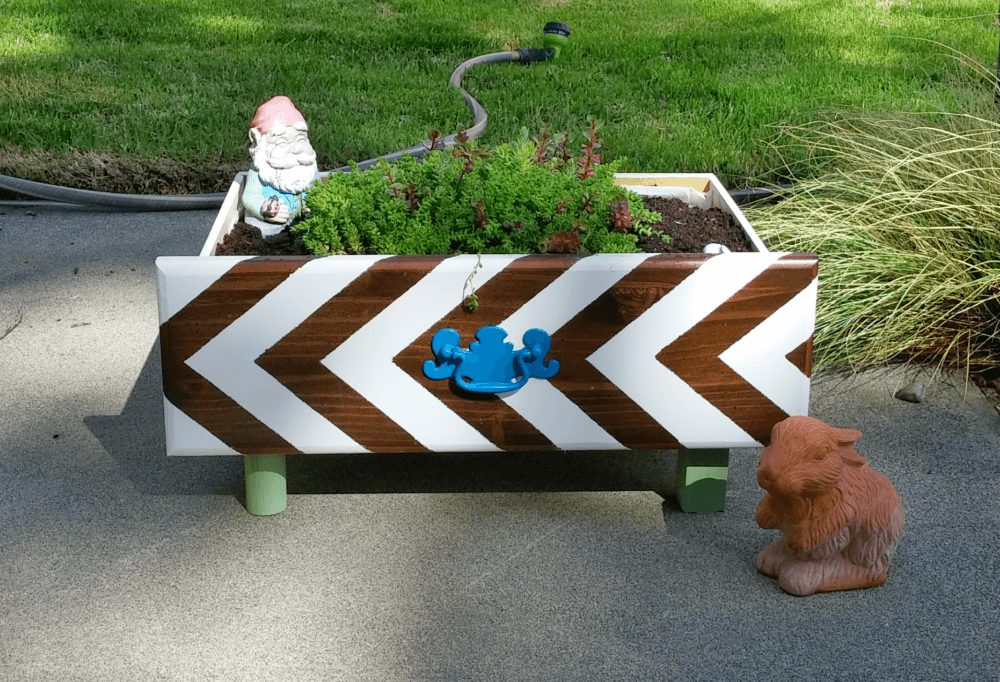 Creatively Designed Planter From an Old Drawer