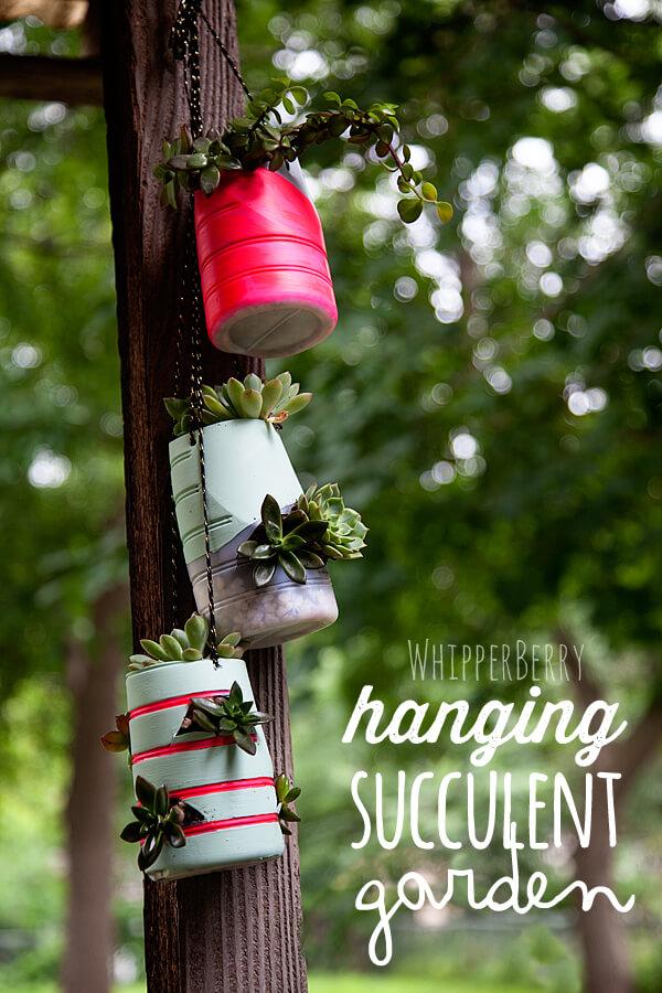 Coffee Creamer Hanging Succulent Garden