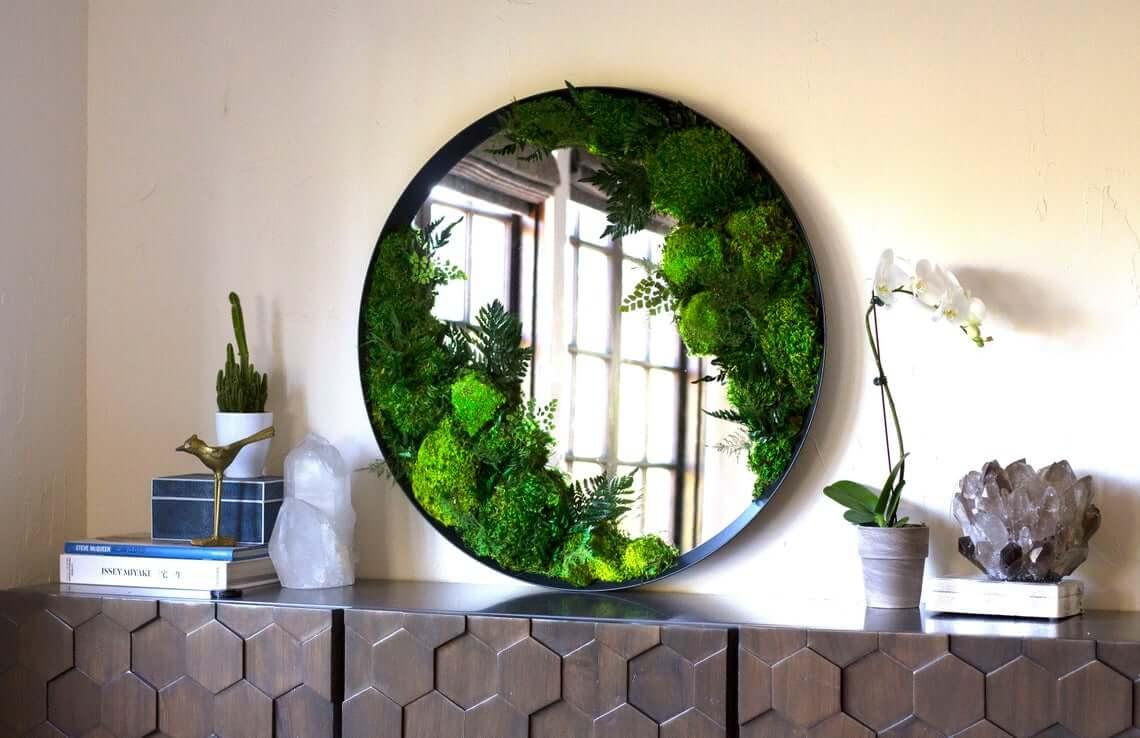 Moss Art Framed Wall Piece