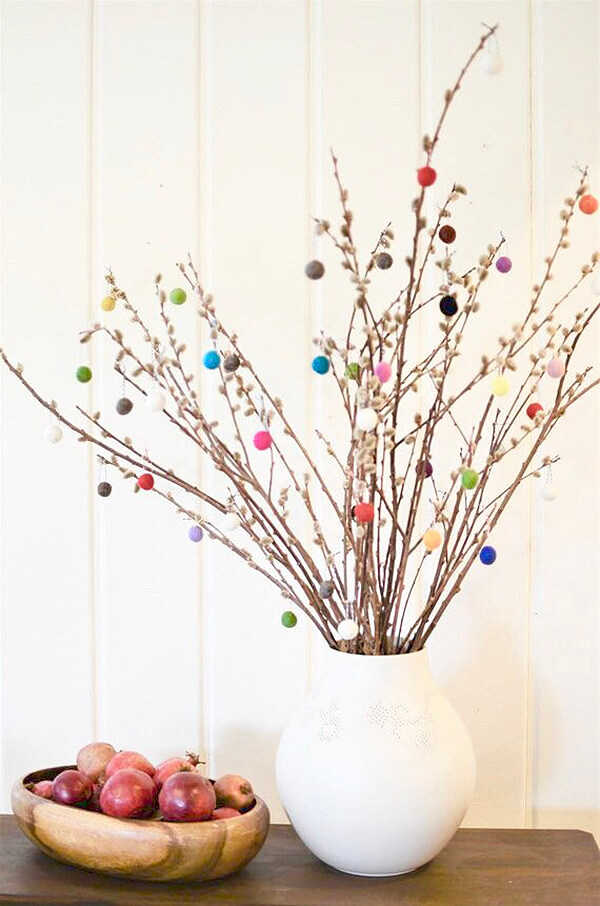 Spruce Up Your Tree with Felt Ball Ornaments