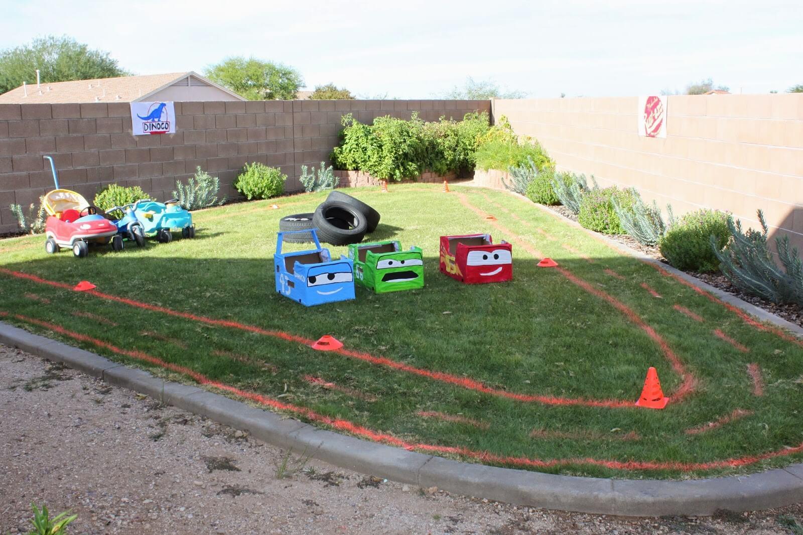 Kids Cars Backyard Race Track