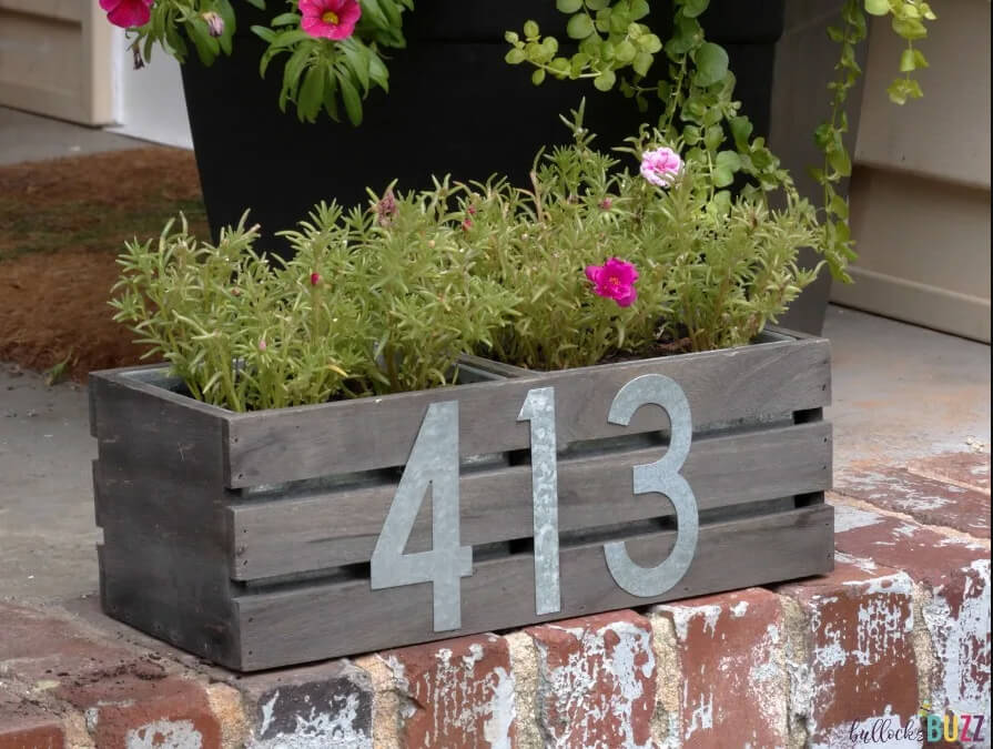 Cute and Versatile House Number Planter