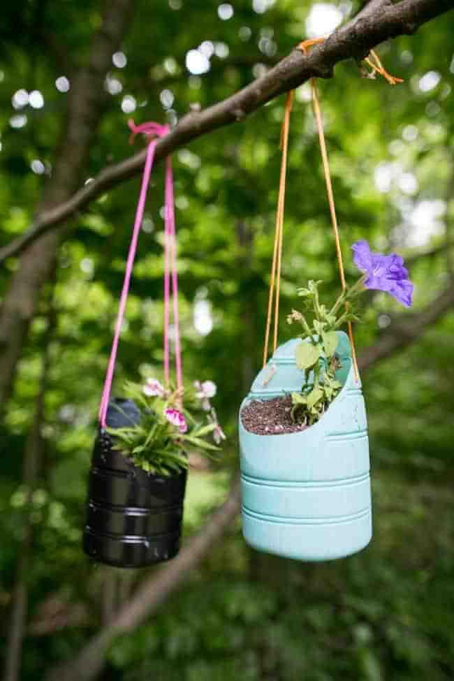 Transforming Bottles into Beautiful Garden Art