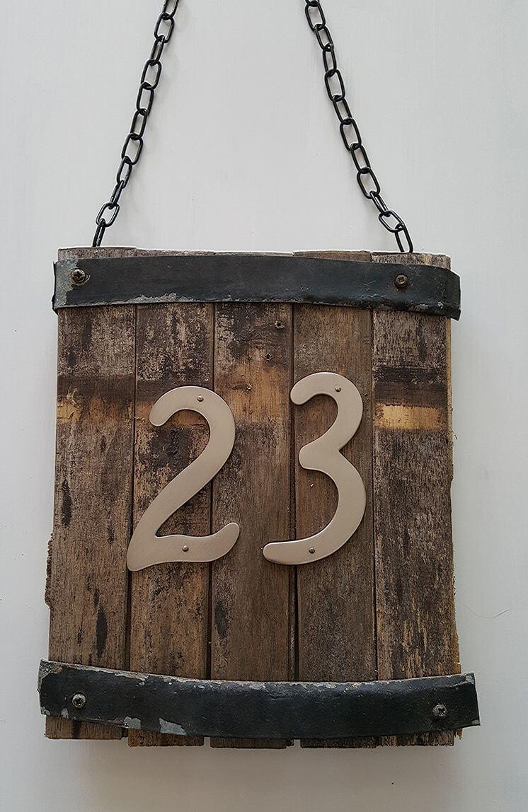 DIY Rustic Hanging Address Sign