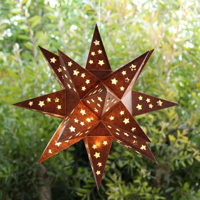 Tin Star Outdoor Pendant Light