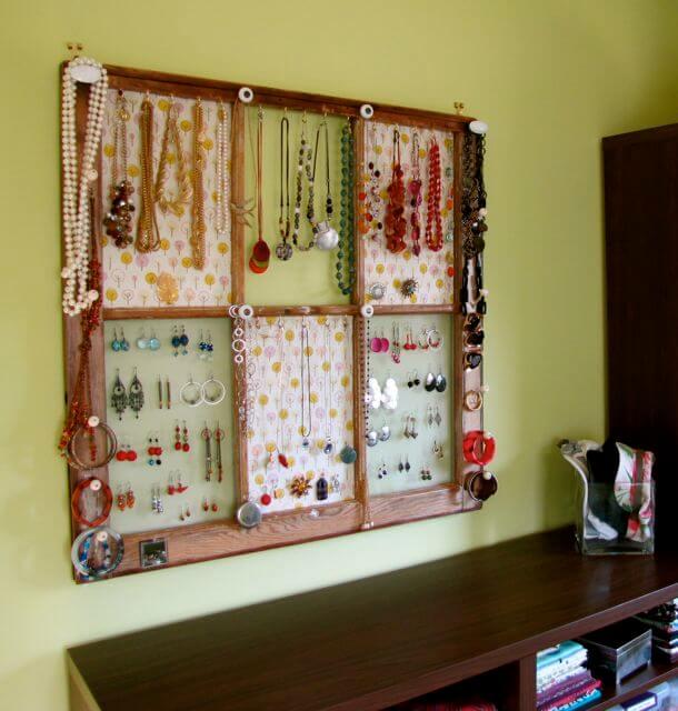 Gorgeous Window Frame Jewelry Display