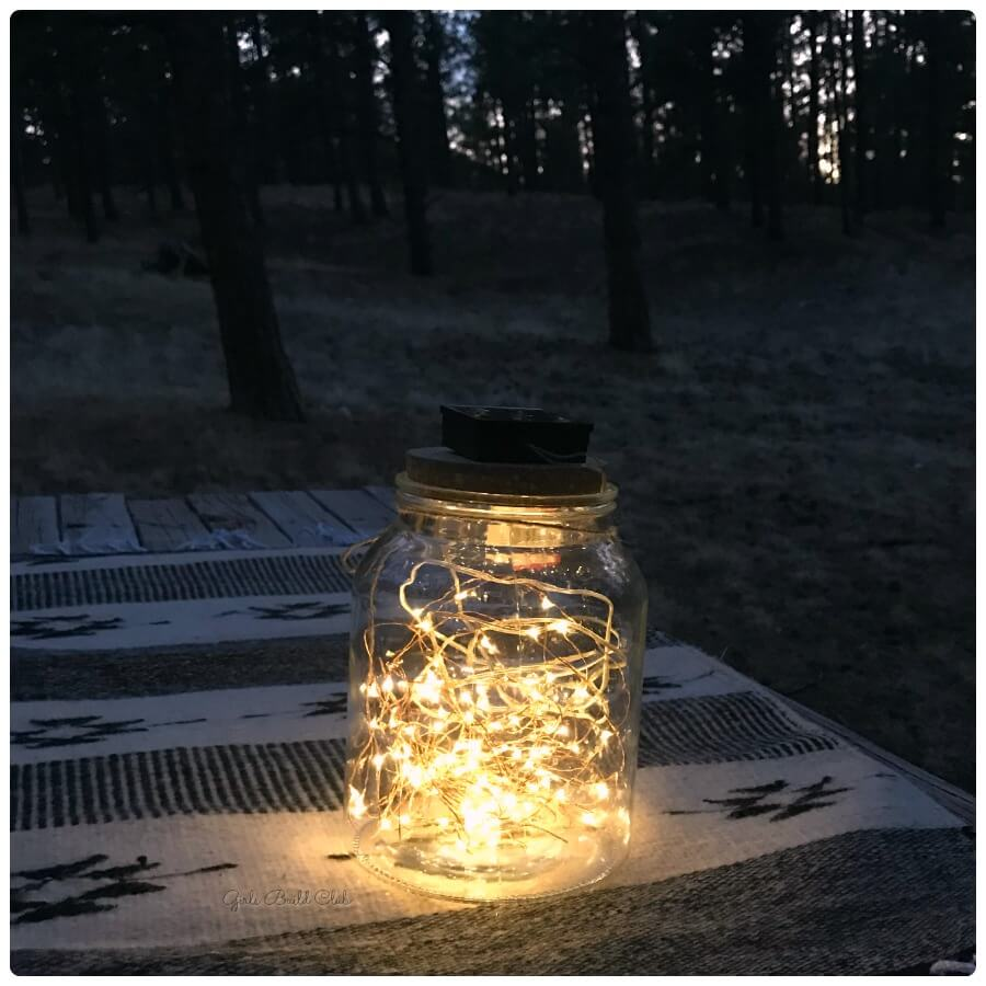 Solar Powered Twinkle Light Large Jar Decoration