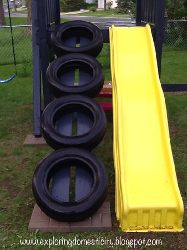 Simple Tire and Slide Climbing Set