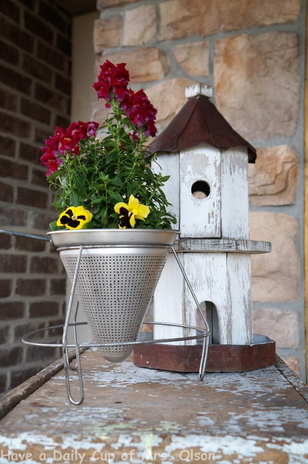 Metal Cone Planter with Stand