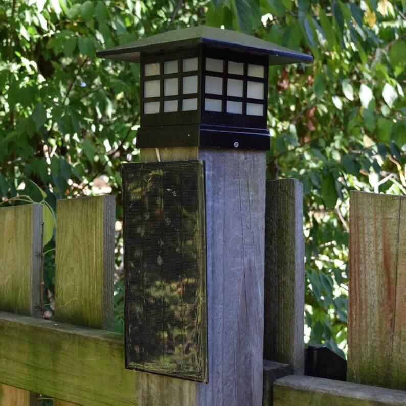 Fence Post Bright White Solar Light