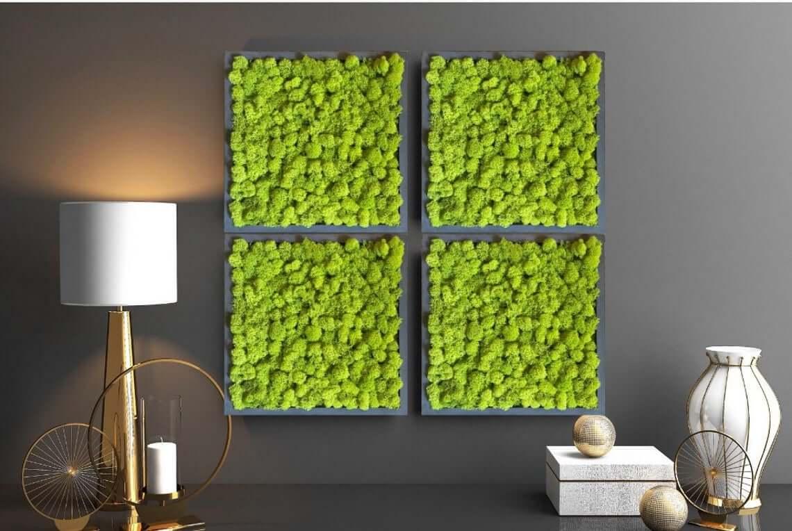 Green Scandinavian Moss Picture Decors