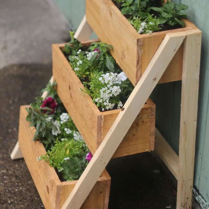 Multi-Level Cedar Planter Box