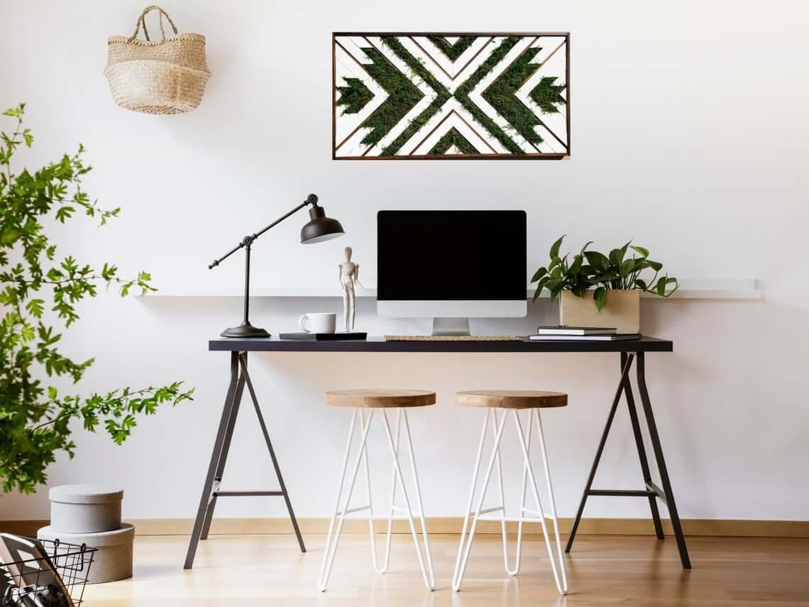 Fancy Motif Moss Art Board
