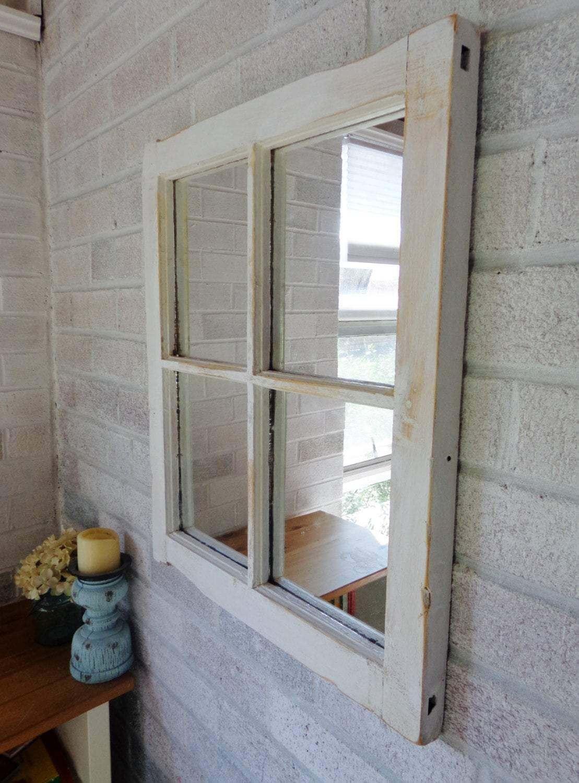 Four Pane Vintage Window Mirror