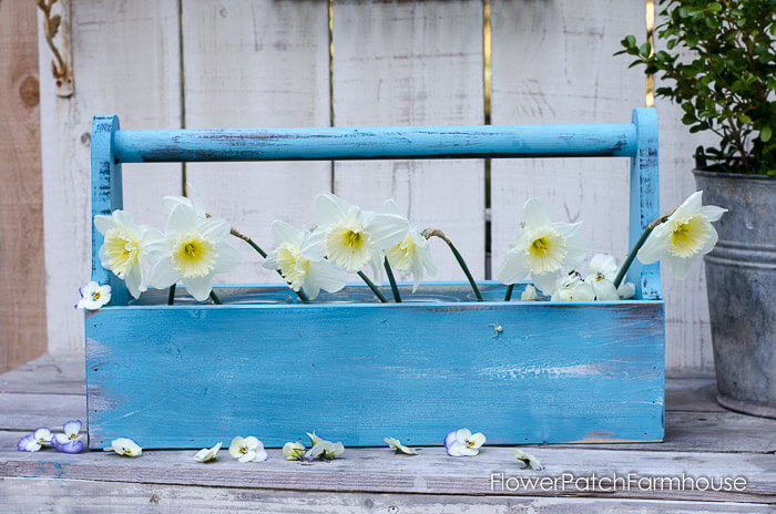 A Rustic Toolbox Caddy Turned Garden Bed