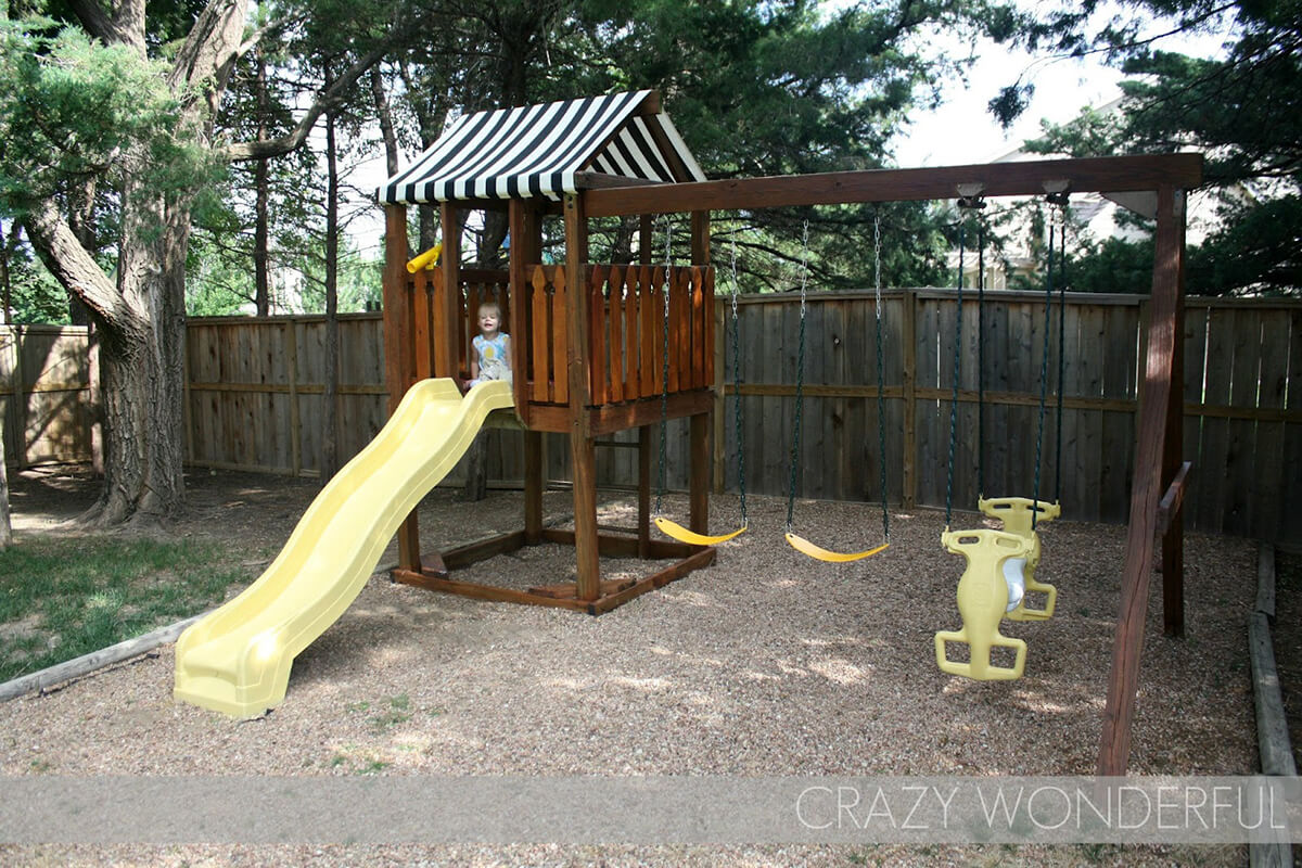 DIY Swing Set Makeover Project