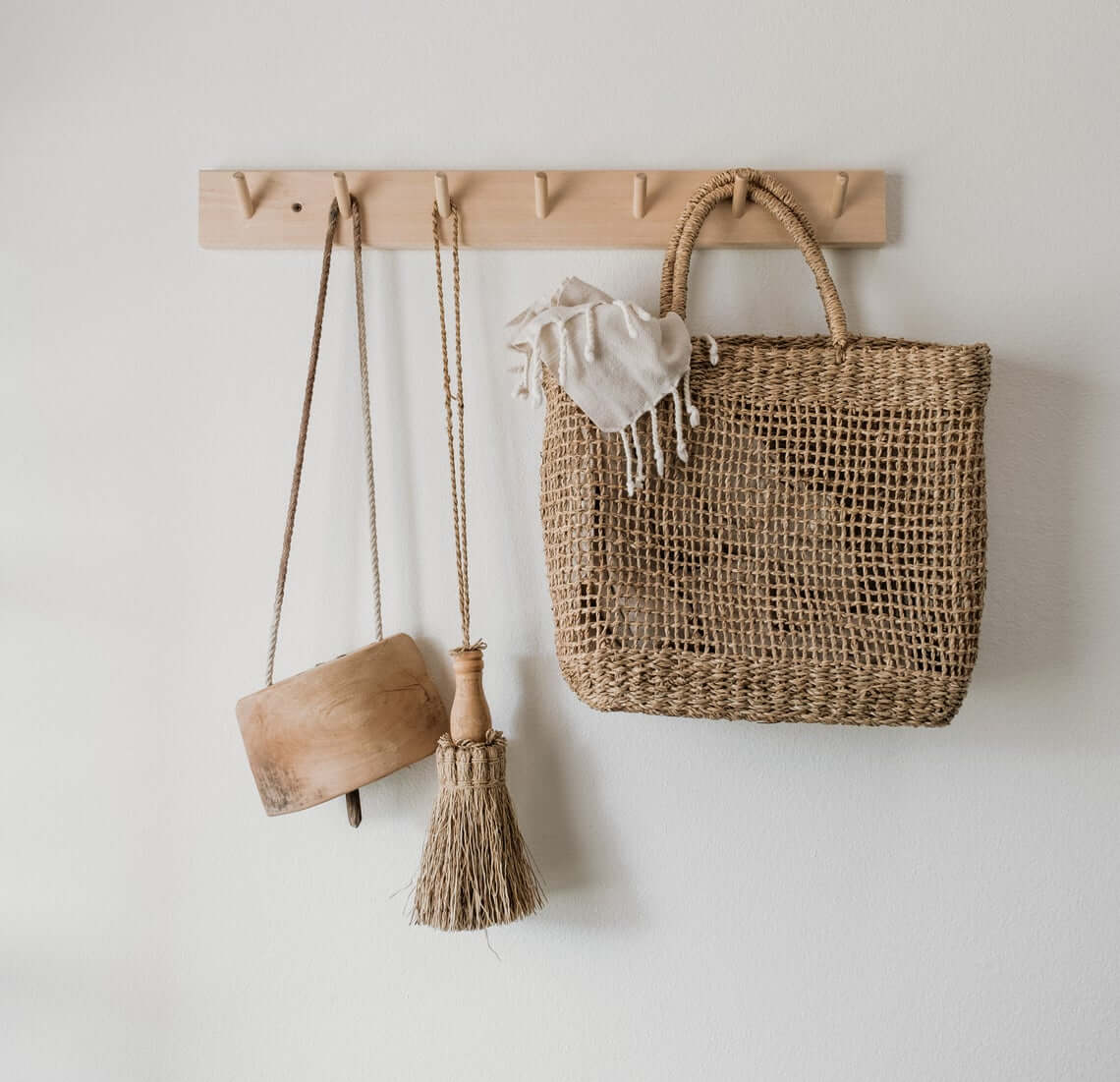 Airy Natural Seagrass Beach Bag