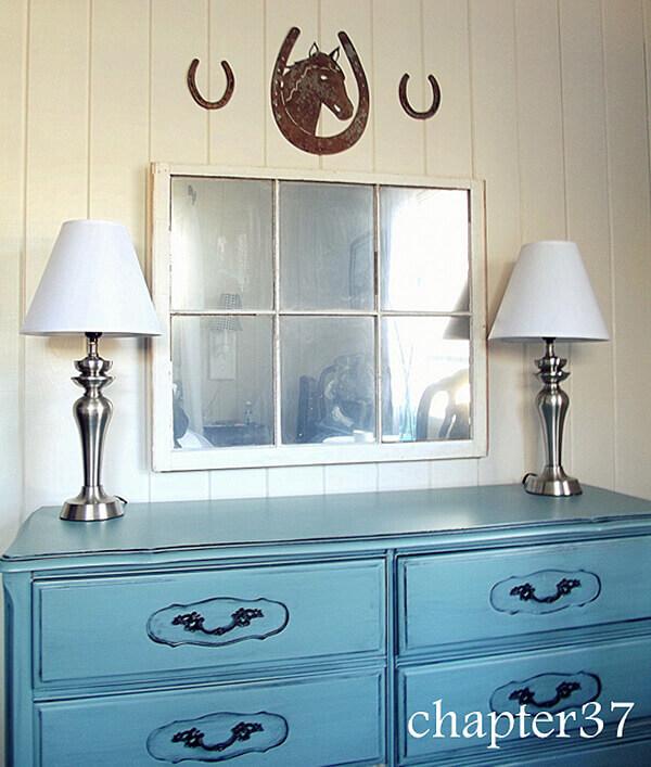 Spray Painted Window Mirror Transformation