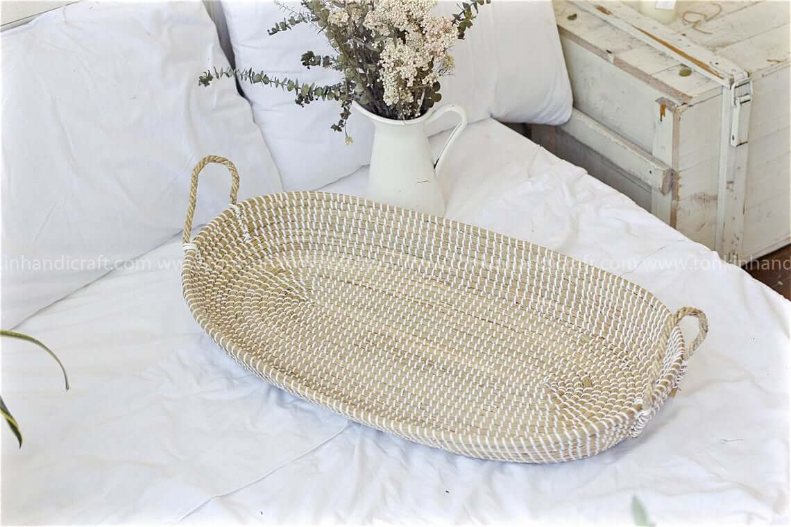 Pretty Meets Practical Woven Serving Tray