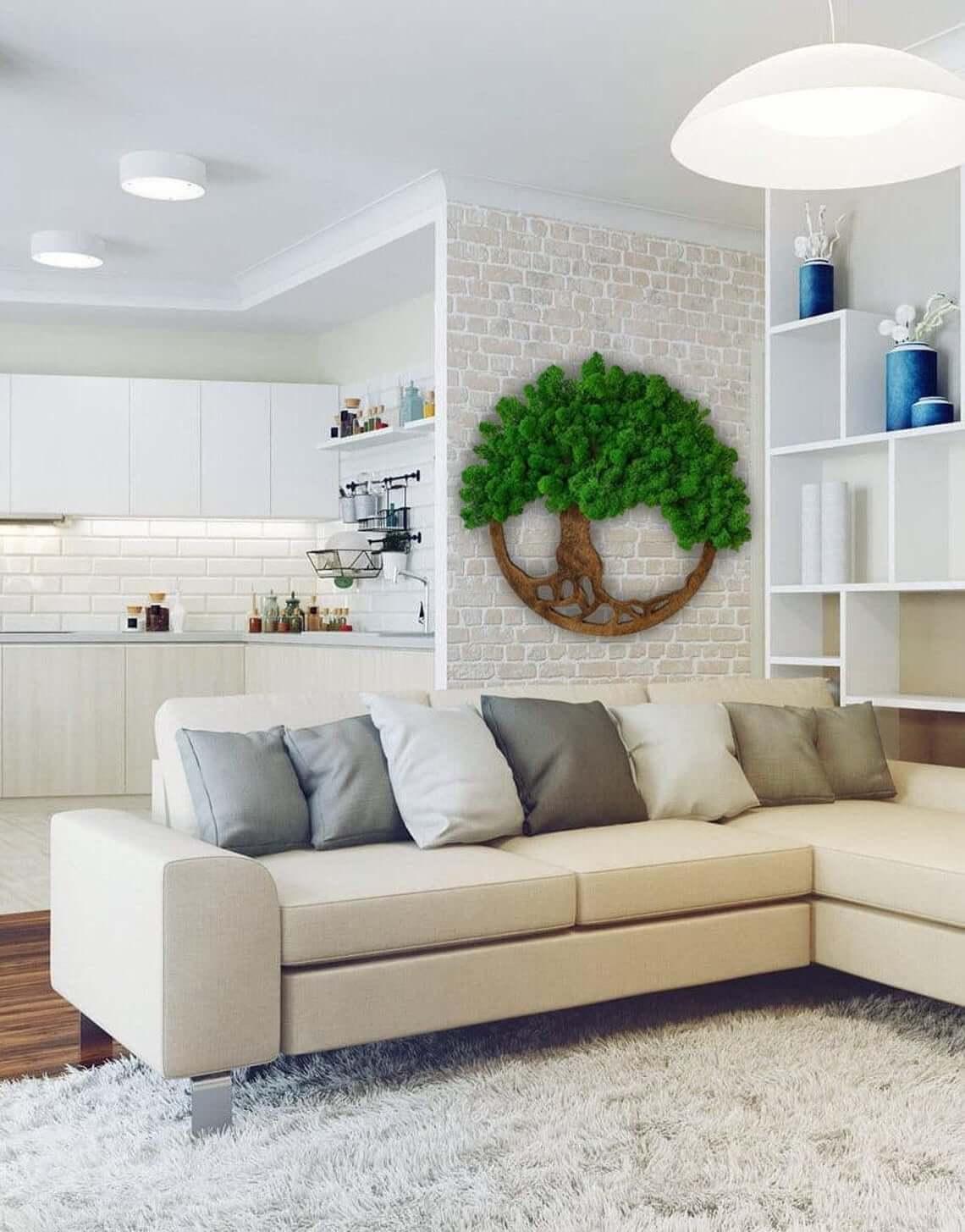 Tree of Life Moss Home Decor