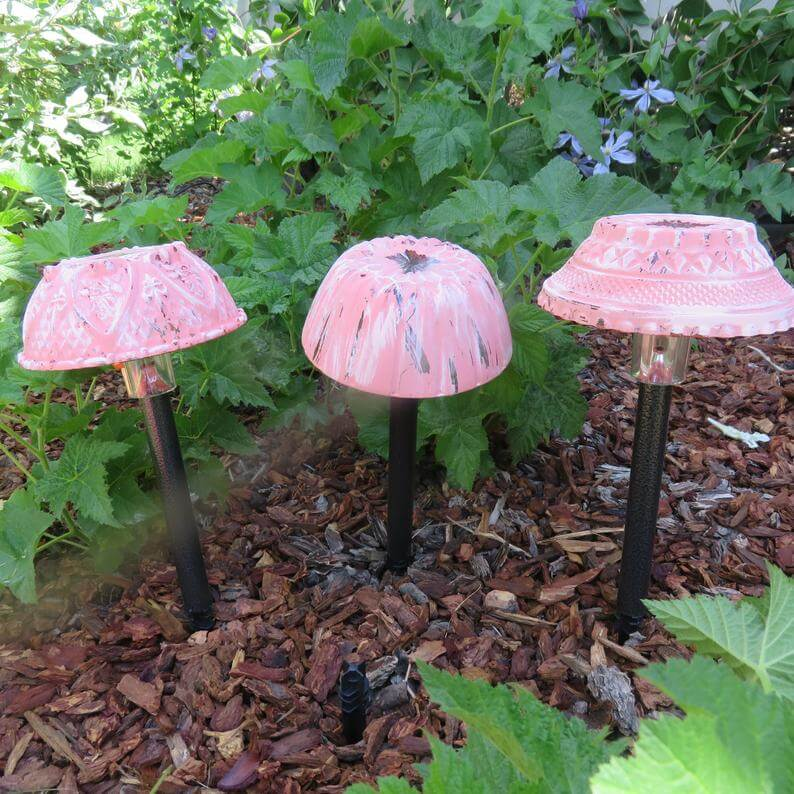 Perfect Pink Painted Solar Lighting