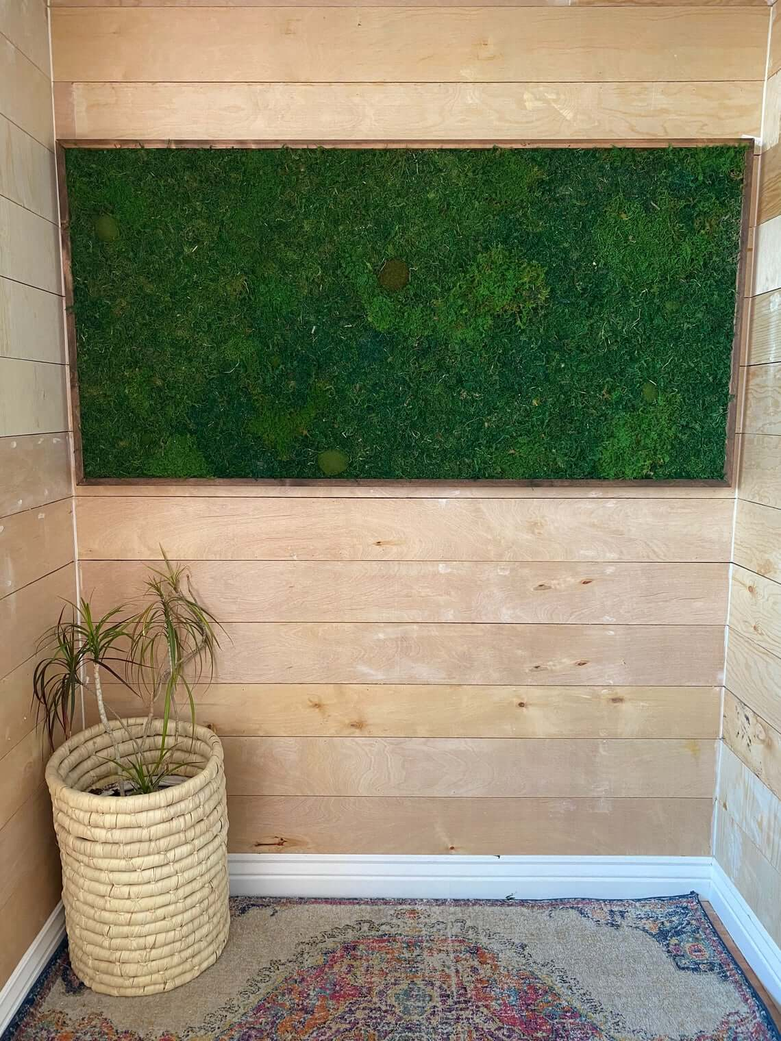 Modern Flat Moss Wall Panel