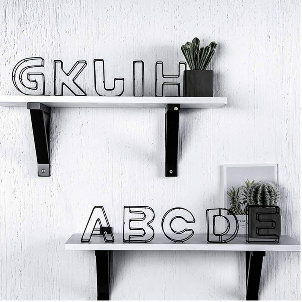 Unique Decorative Metal Alphabet Letters