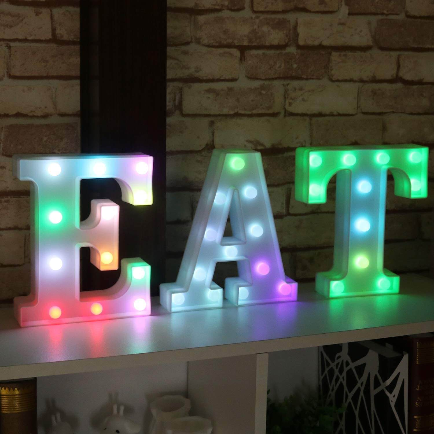 Colorful Battery Powered LED Marquee Letter