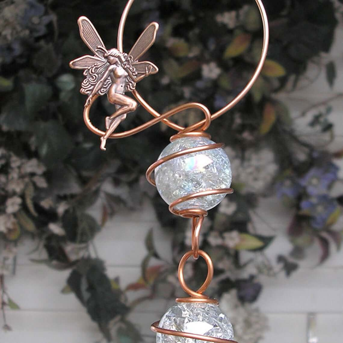 Customizable Mystical Copper and Crackle-Glass Suncatcher