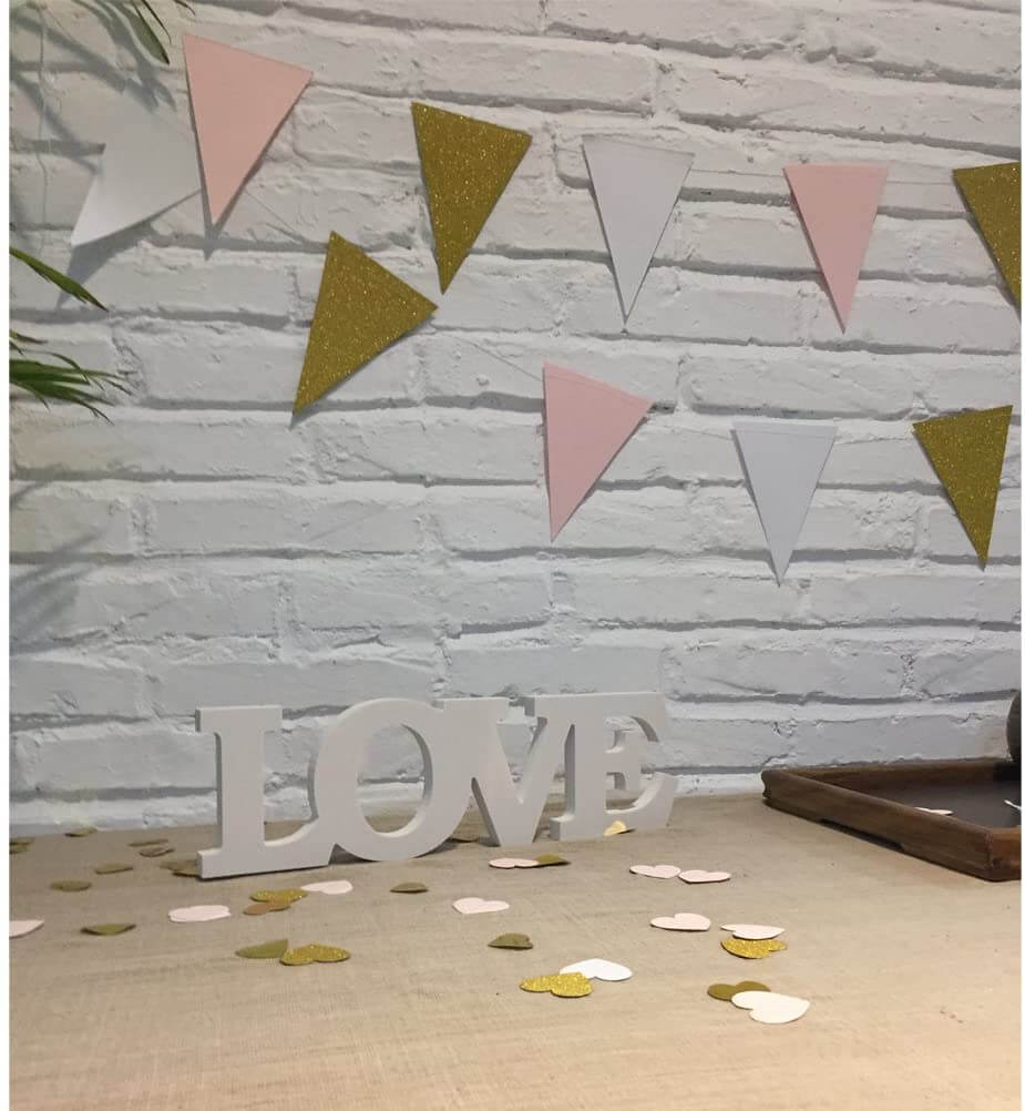 Wooden LOVE Freestanding Tabletop Sign