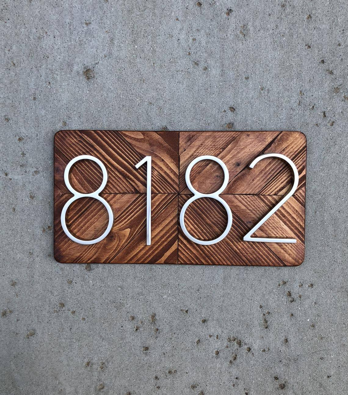 Beautifully Modern House Number Plaque
