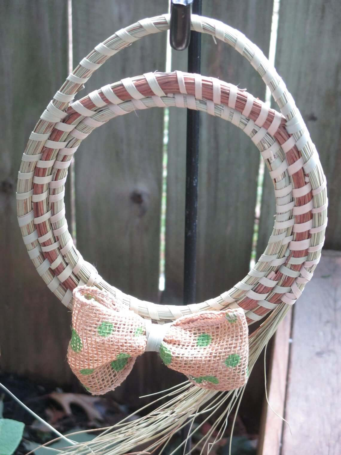 Special Seagrass Woven Rims Wreath