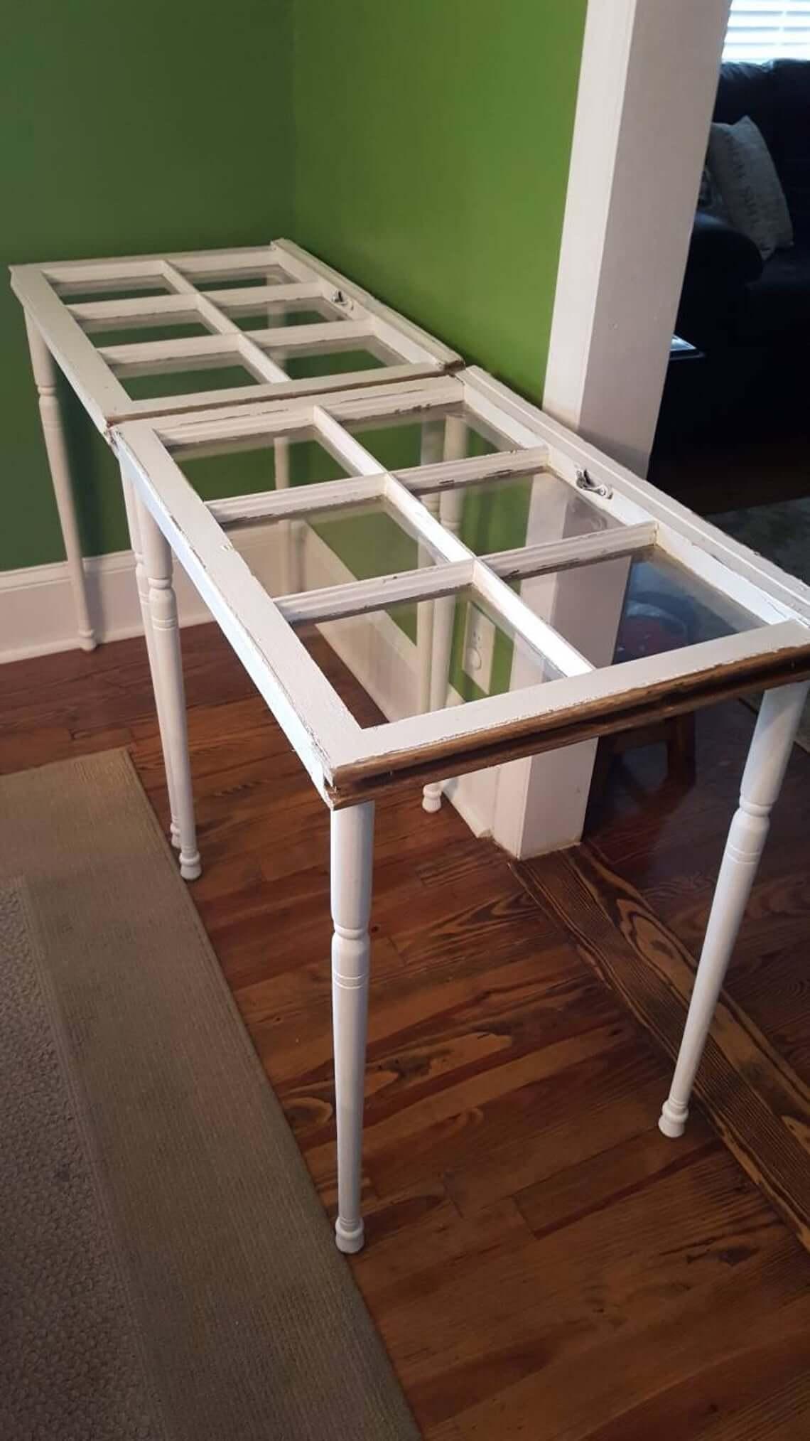 Unique Sash Panes Side Table