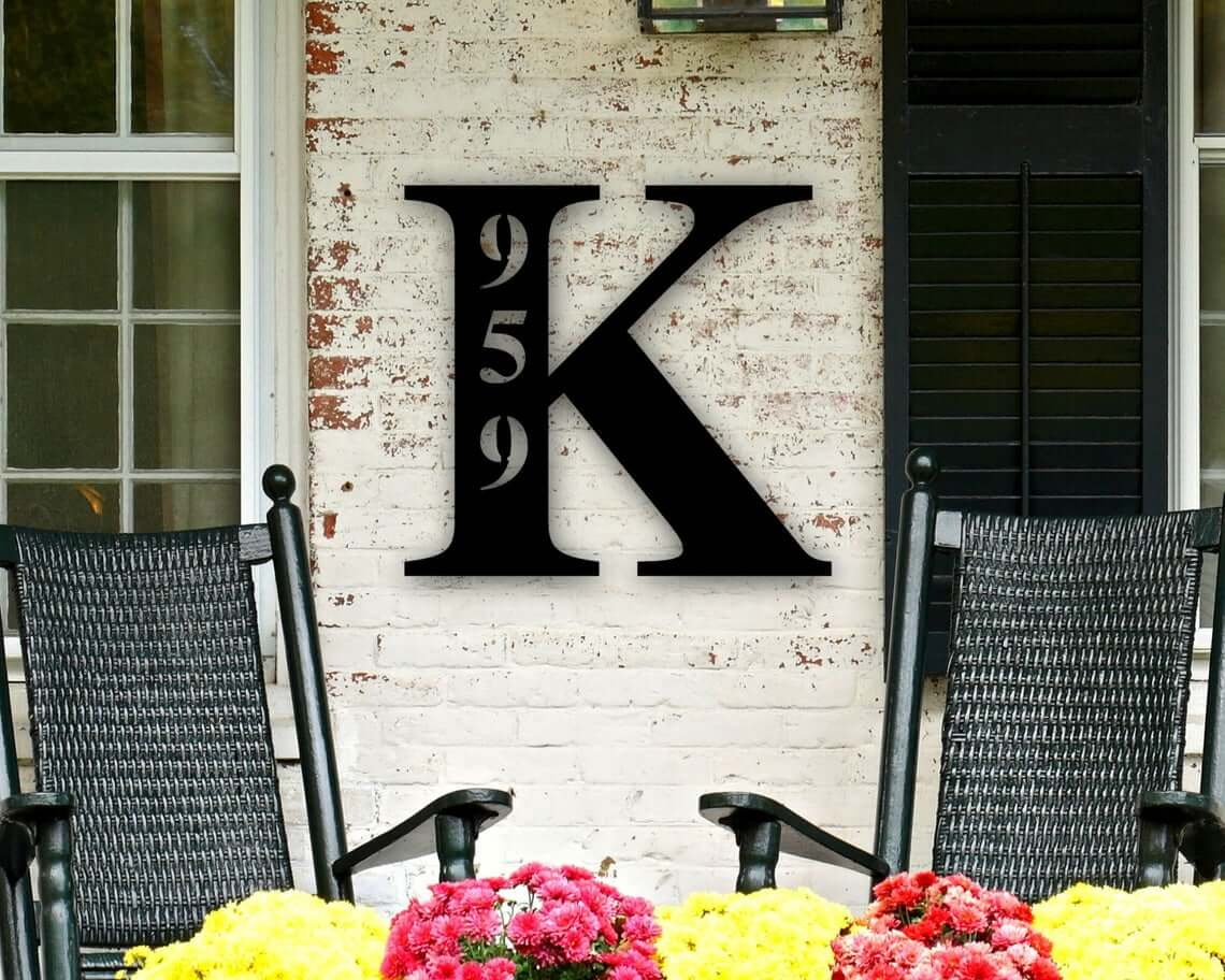 Personalized Metal Letter House Number Sign