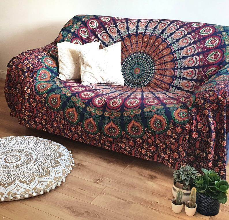 Indian Mandala Boho Sofa Throw