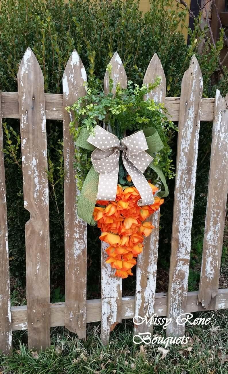 Adorable Hippity Hoppity Carrot Wreath for Spring