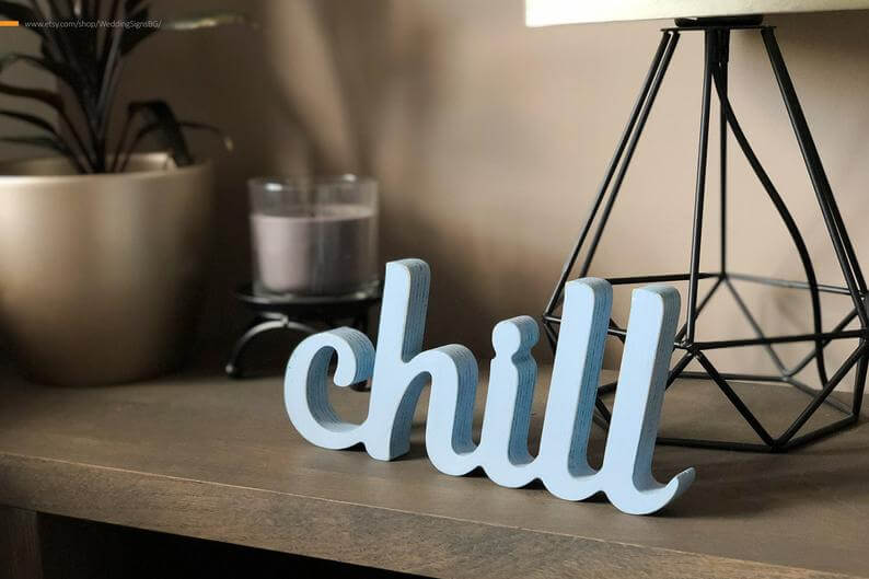 Personalized 3D Freestanding Letter Sign