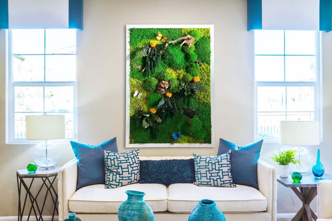 Succulent Living Moss Art Design