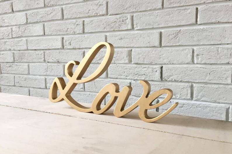 Gorgeous Love Tabletop Wooden Lettering