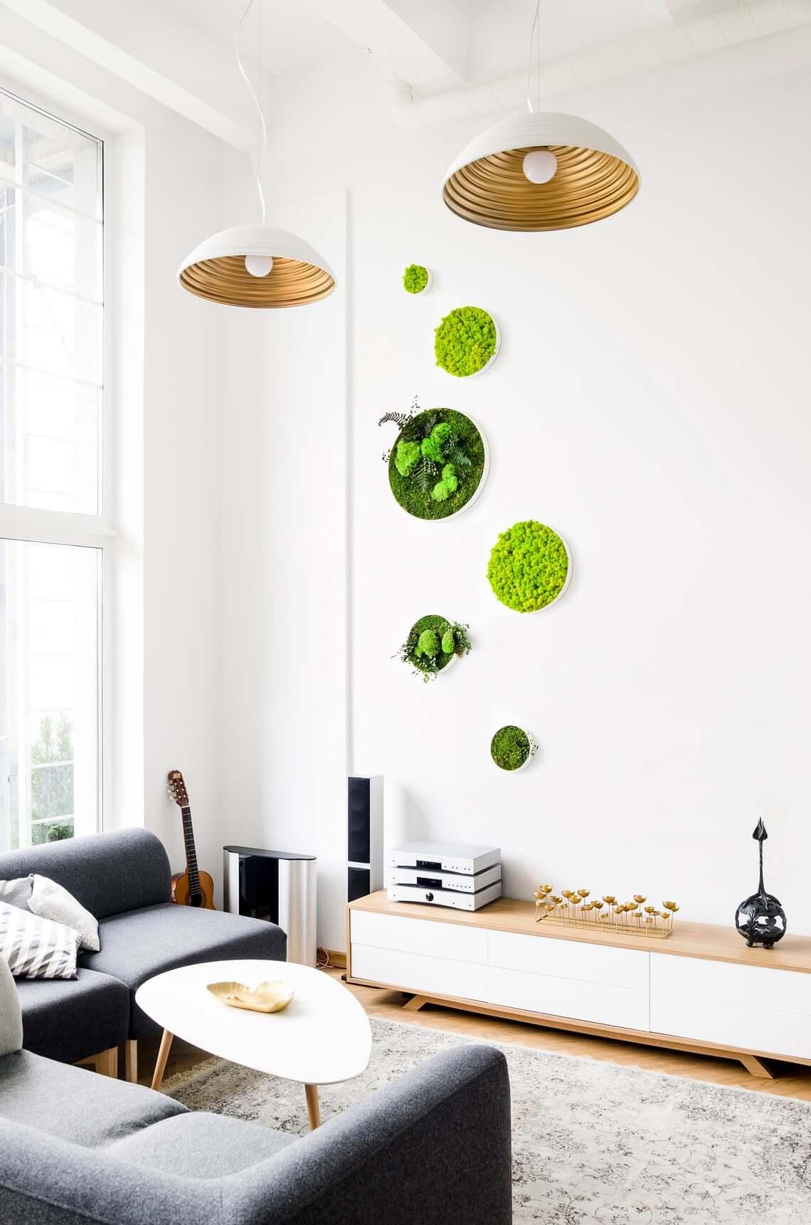Unique Circle Home Moss Wall Art