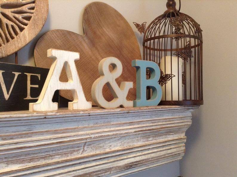 3-Set Personalized Finish Wooden Letters