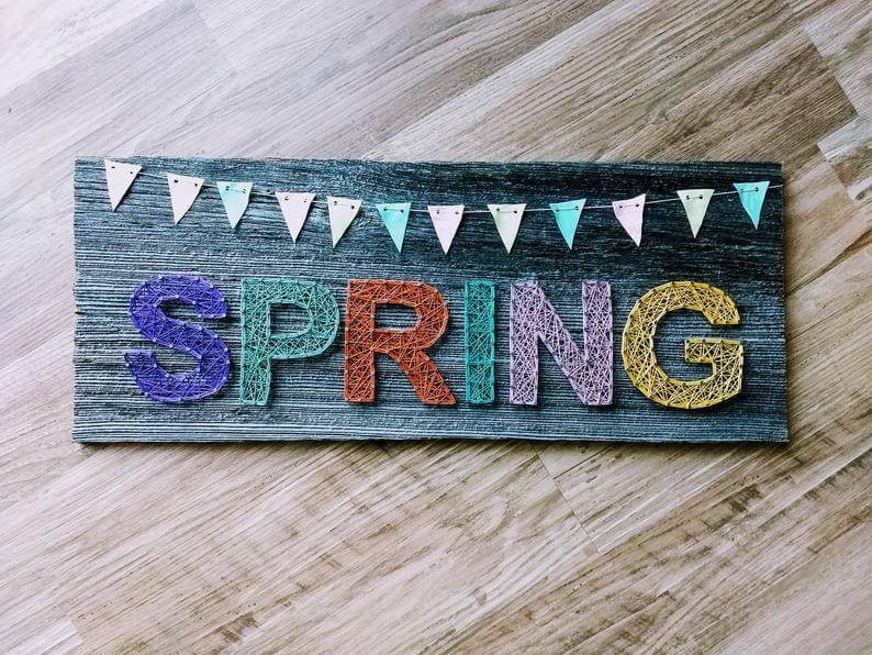Reclaimed Wood Spring Nail Art