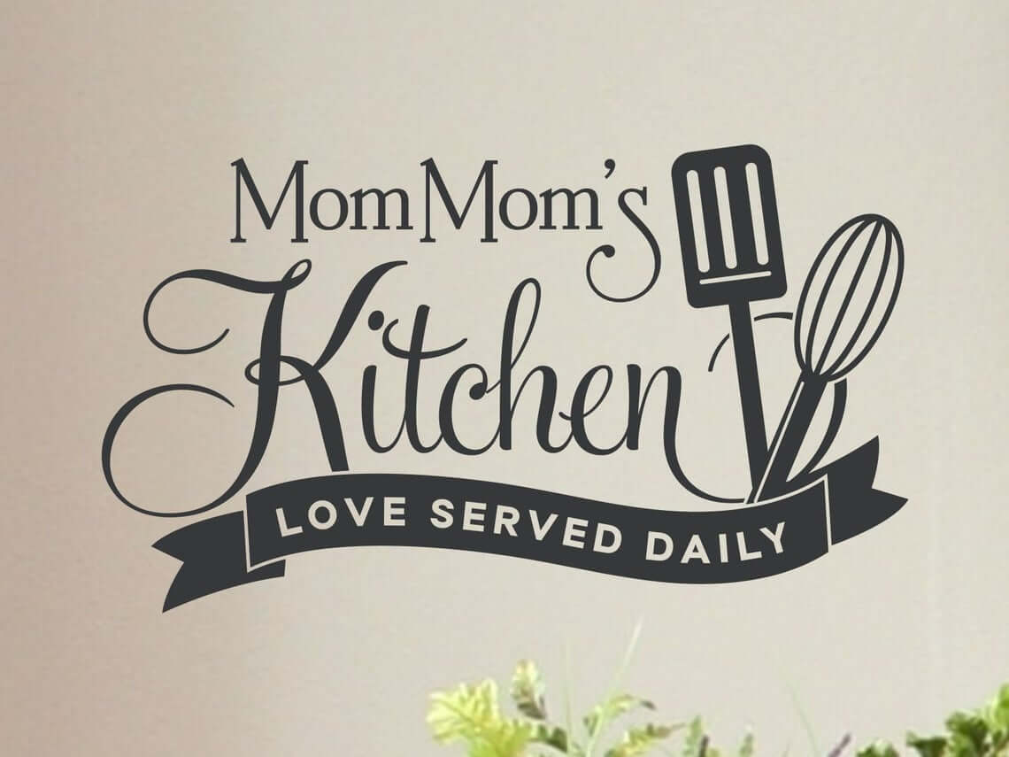 Love Served Daily Vinyl Kitchen Sign