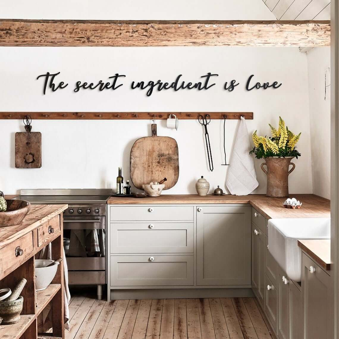 Scripted Secret Ingredient Kitchen Wall Art